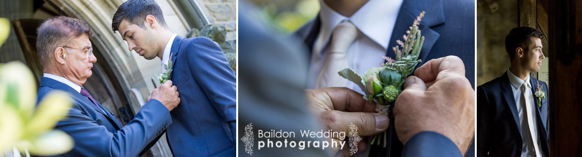 Groom and father buttonhole
