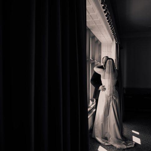 Hollins Hall wedding photography window light
