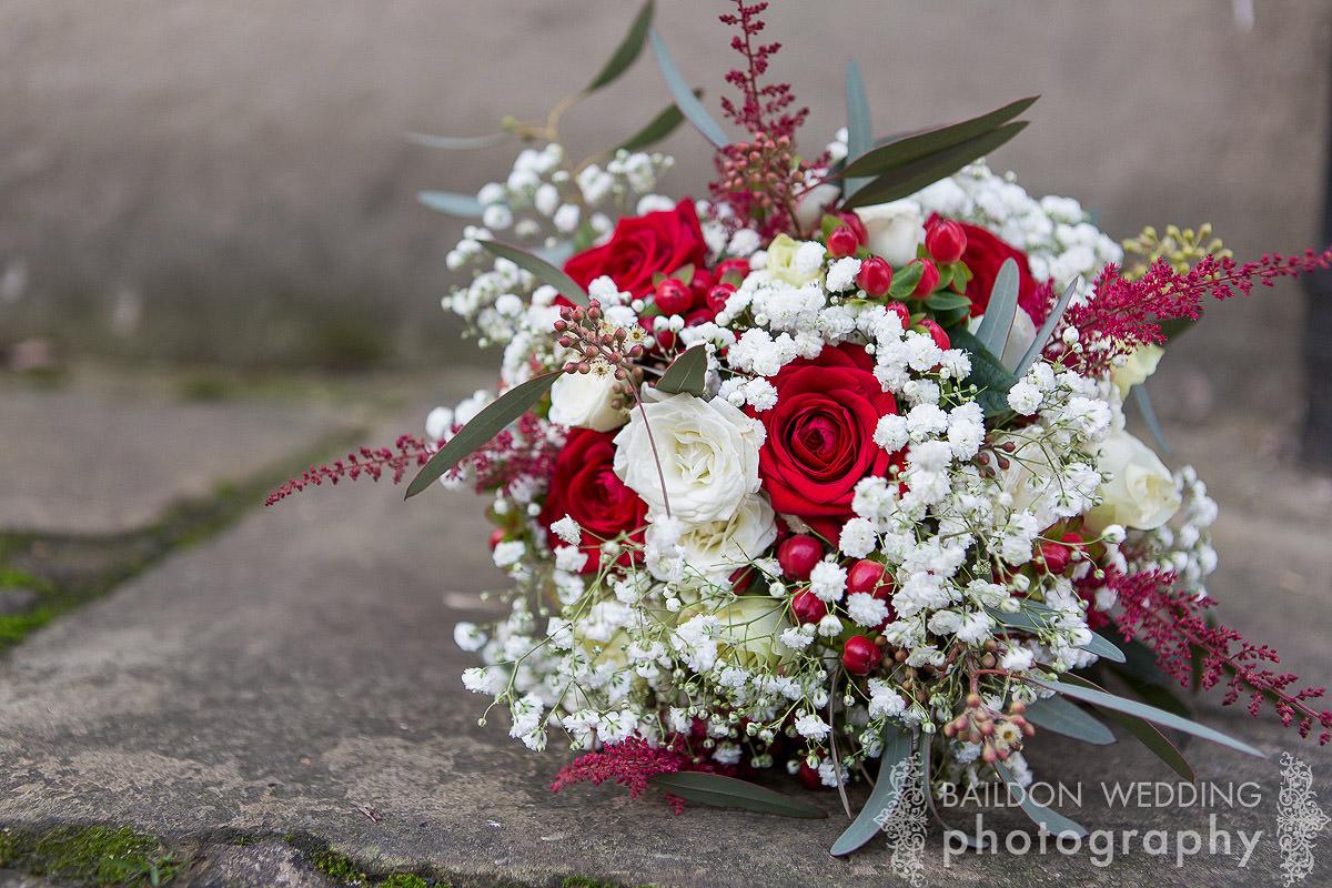 bridal bouquet flowers astilbe, roses gypsophila