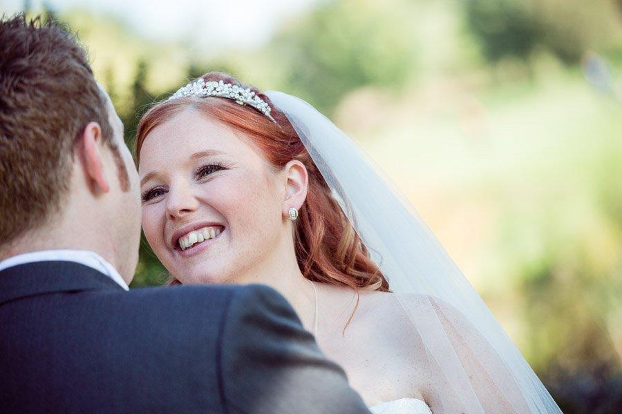 Capture smiling bride