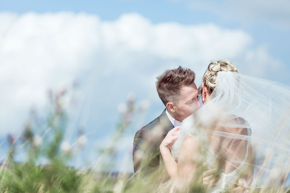Leeds wedding photographer, wedding photography in Yorkshire countryside moorland portrait session