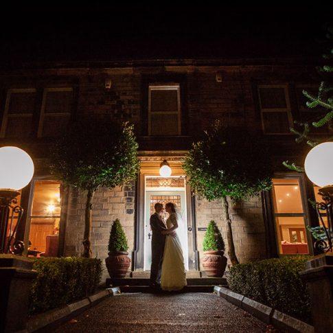 Crow Hill wedding Huddersfield night shot