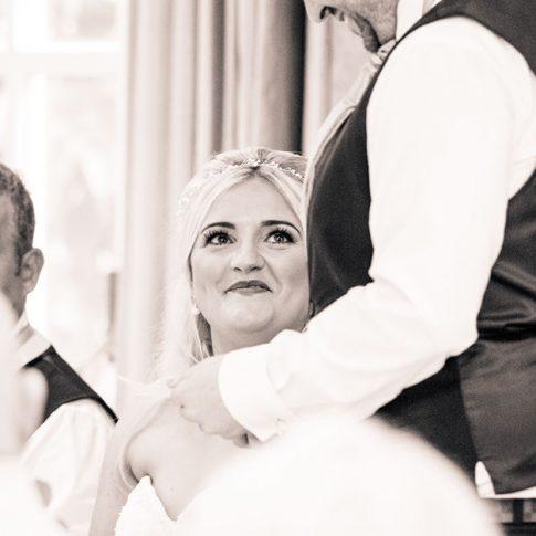 Hollins Hall wedding speeches photograph