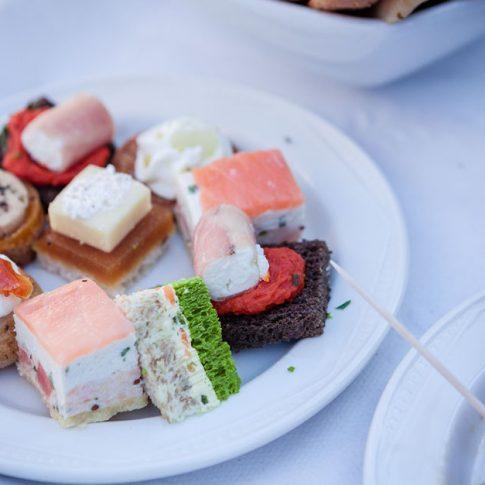 wedding food canapés