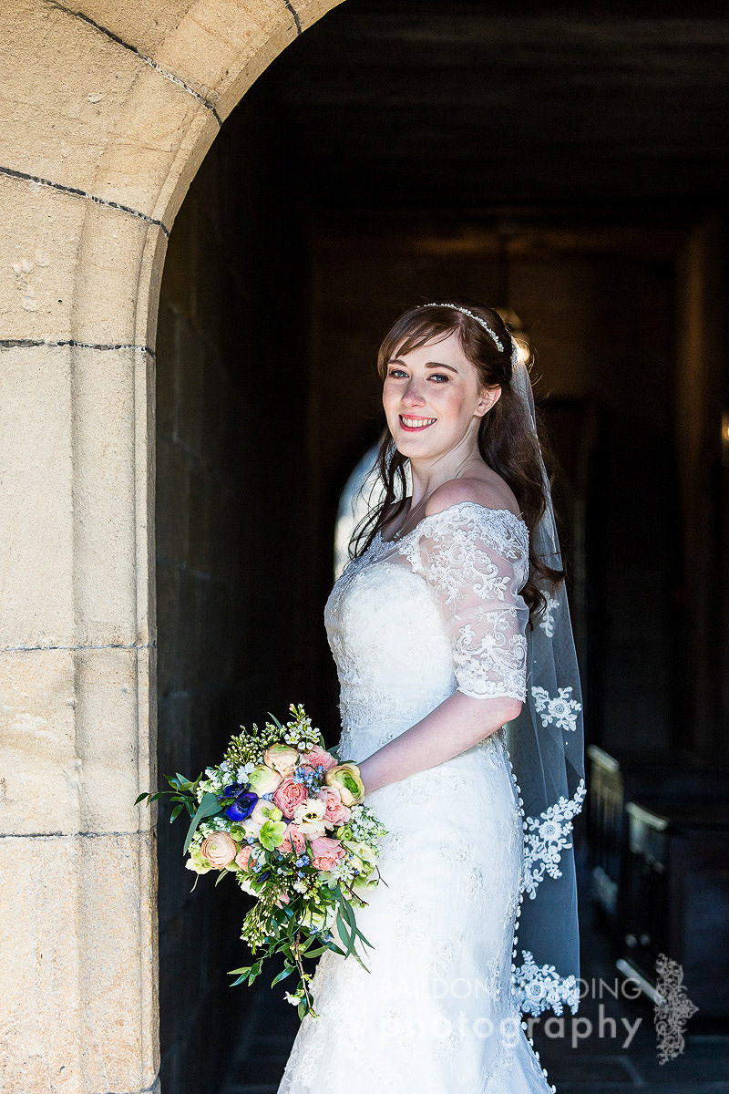 bride in hall