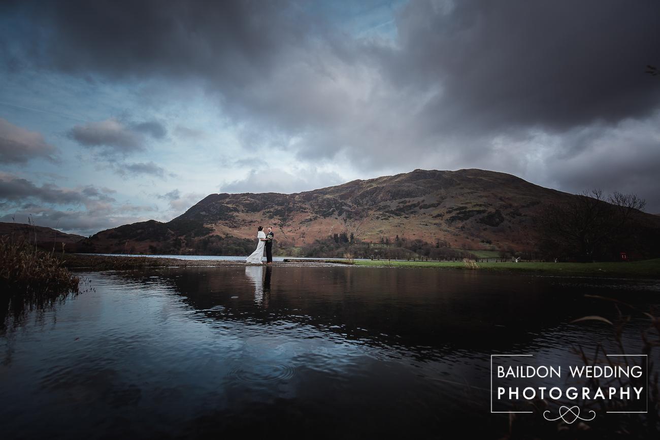 Dramatic landscape wedding photos