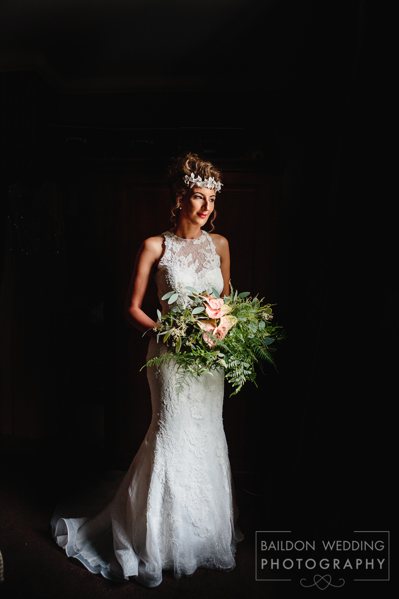 Full length bridal portrait