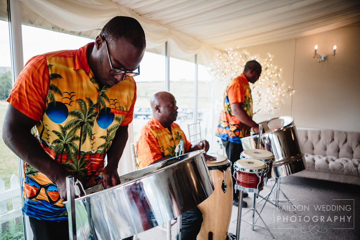Steel band caribbean wedding