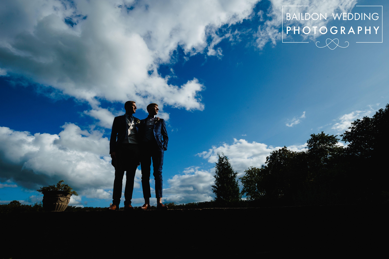 Two grooms gay wedding Leeds
