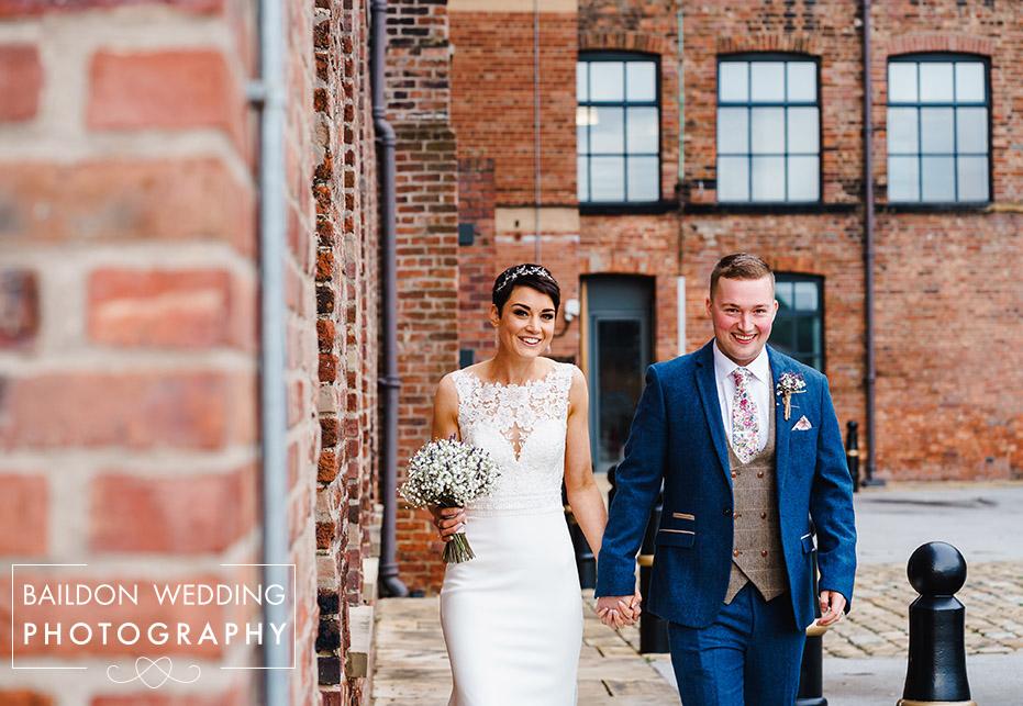 Bride and Groom at Leeds wedding venue Northern Monk